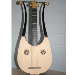 Guitare Lyre bois, reproduction modèle 1813